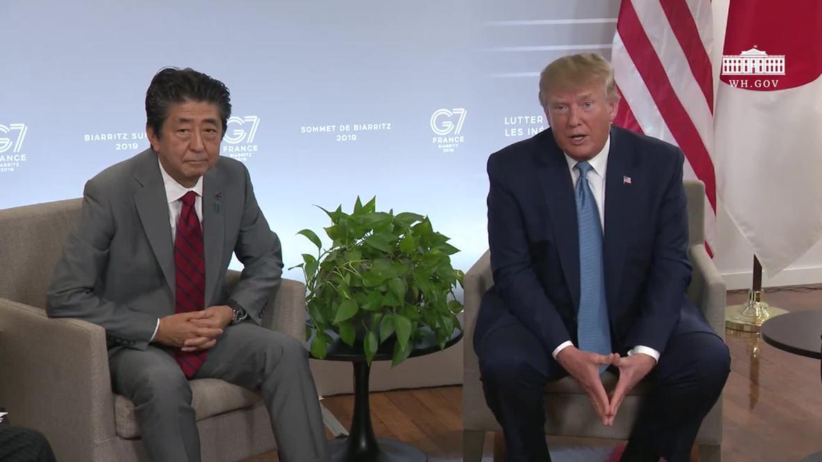 Francia: Trump afirma que el regreso de Rusia al G7 sería `positivo'