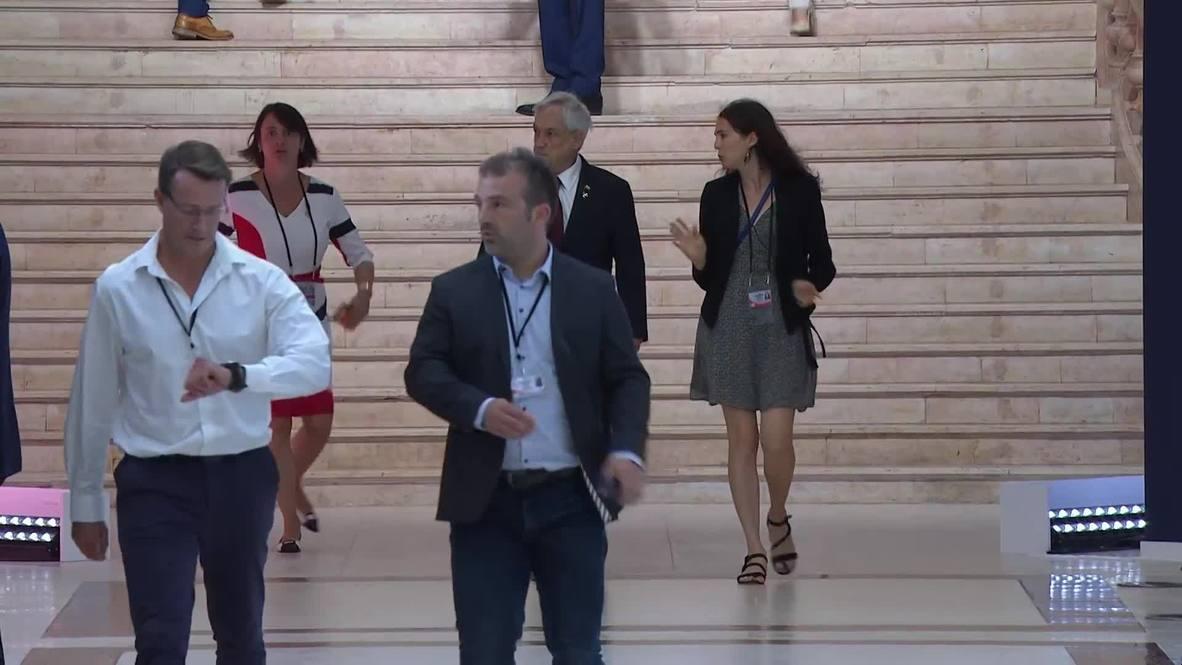 Francia: El presidente de Chile, Sebastián Piñera, asiste a la cumbre del G7 en Biarritz