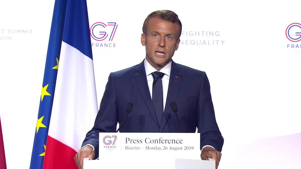 France: 'It's sad' – Macron responds to 'personal attacks' from Bolsonaro
