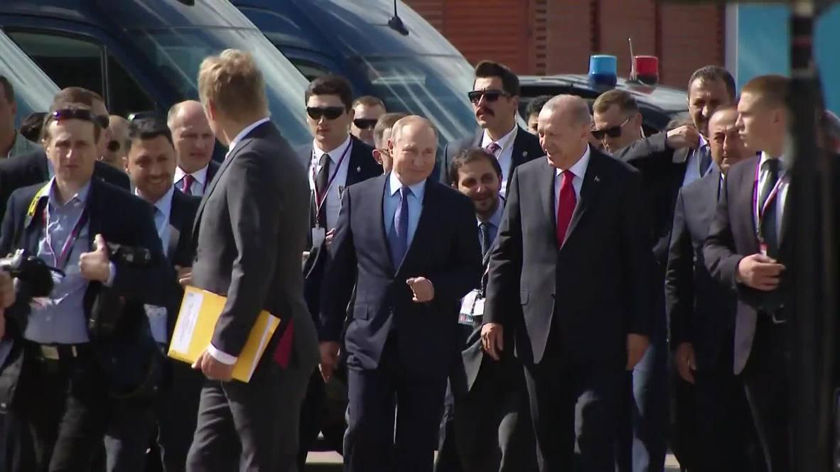 Russia: Putin and Erdogan open MAKS 2019 air show ahead of talks on Syria, Ukraine