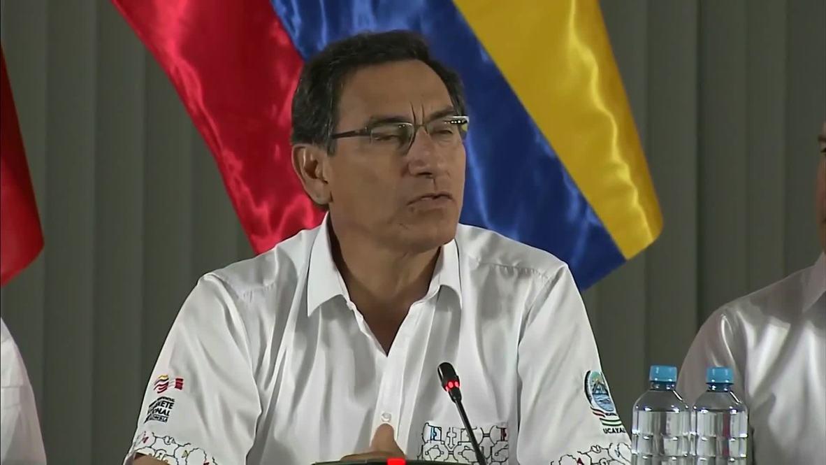 Perú: Vizcarra y Duque anuncian una reunión de jefes de Estado de la región Amazónica
