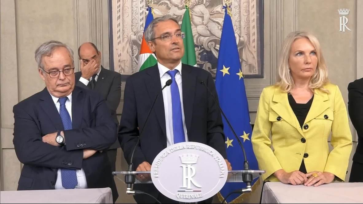 Italia: Líderes de los partidos reanudan las conversaciones con el presidente Mattarella