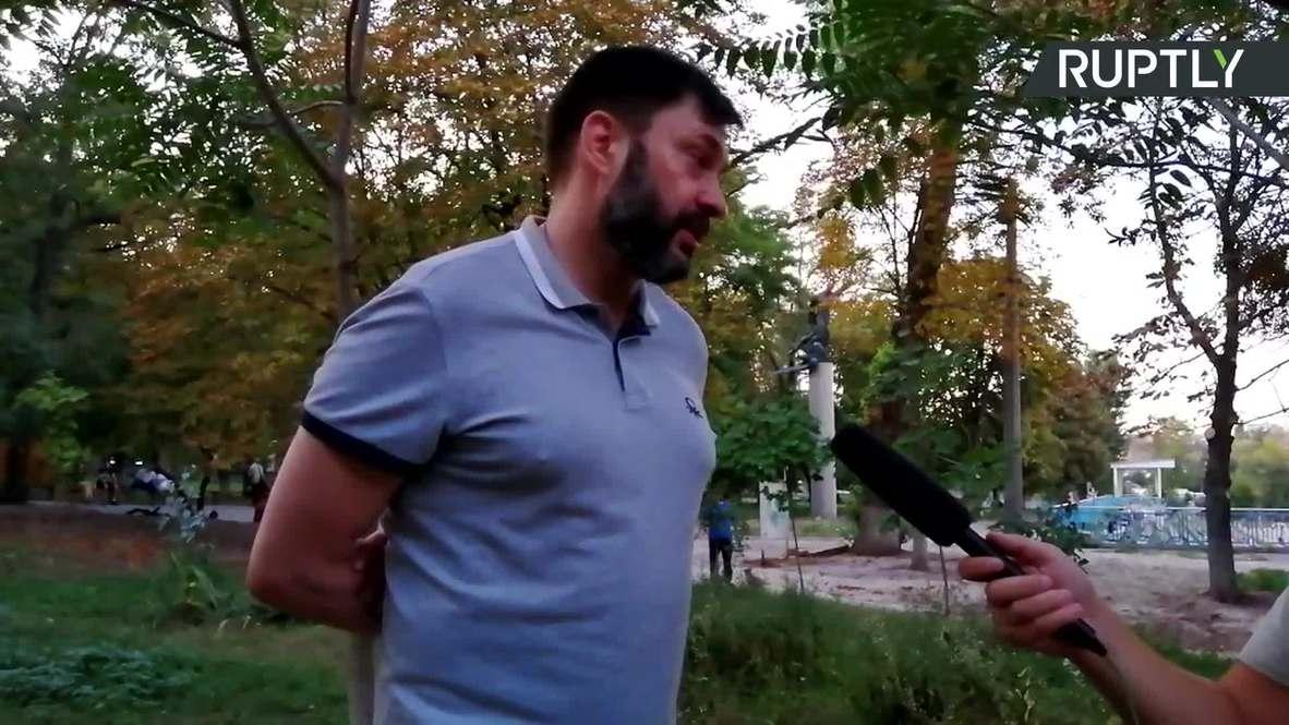 Ucrania: Vyshynsky dice que seguirá trabajando como periodista trás su libertad bajo fianza *EXCLUSIVO*