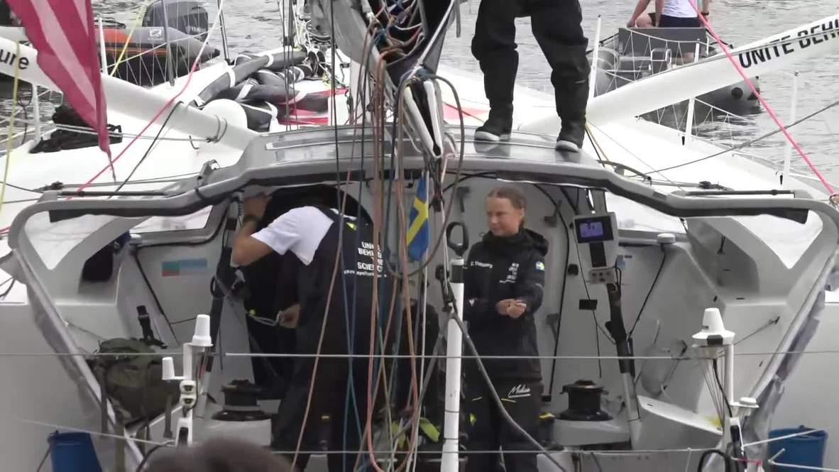 EE.UU.: Activista climática Greta Thunberg llega a Nueva York tras navegar durante 15 días
