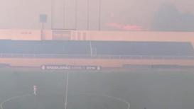 Brazil: Amazon rainforest fire interrupts football match
