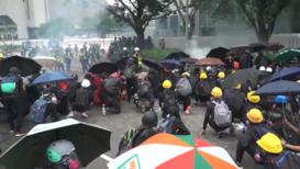 Hong Kong: Tear gas and water cannons disrupt rally defying police ban