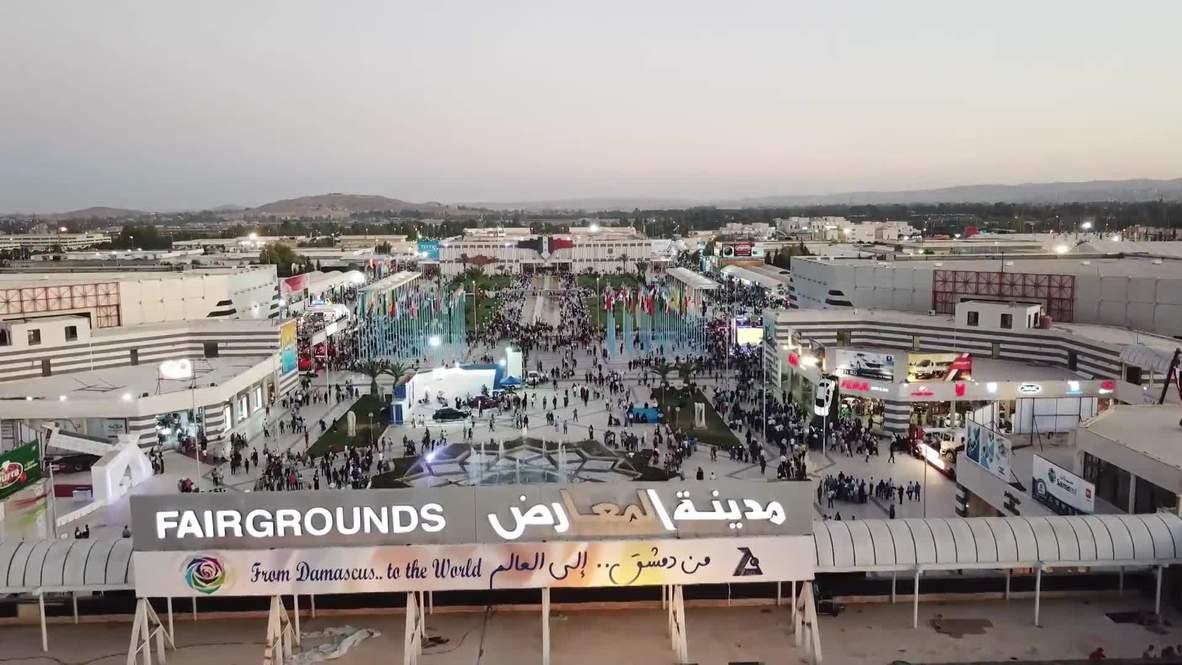 Siria: Imágenes desde un dron muestran la mayor feria internacional de Damasco