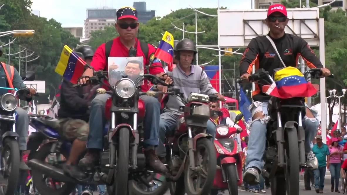 Venezuela: Protesters chant 'No More Trump!' during march through Caracas