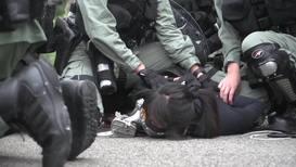 Hong Kong: Arrests made at unauthorised rally in Hong Kong