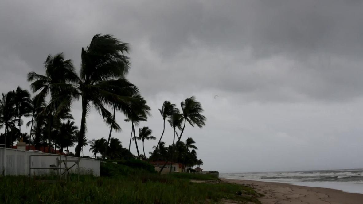 USA: Florida's West Palm Beach braces for Hurricane Dorian landfall
