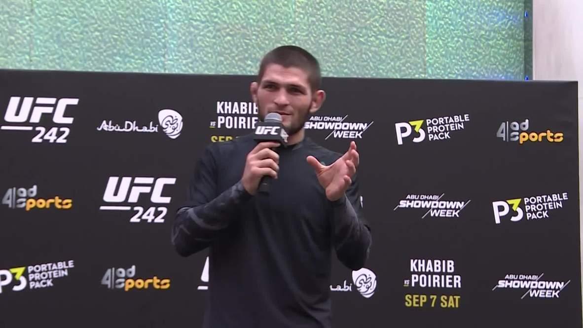 الإمارات العربية المتحدة: حبيب وبوارييه يستعدان للنزال المرتقب على لقب (UFC 242)