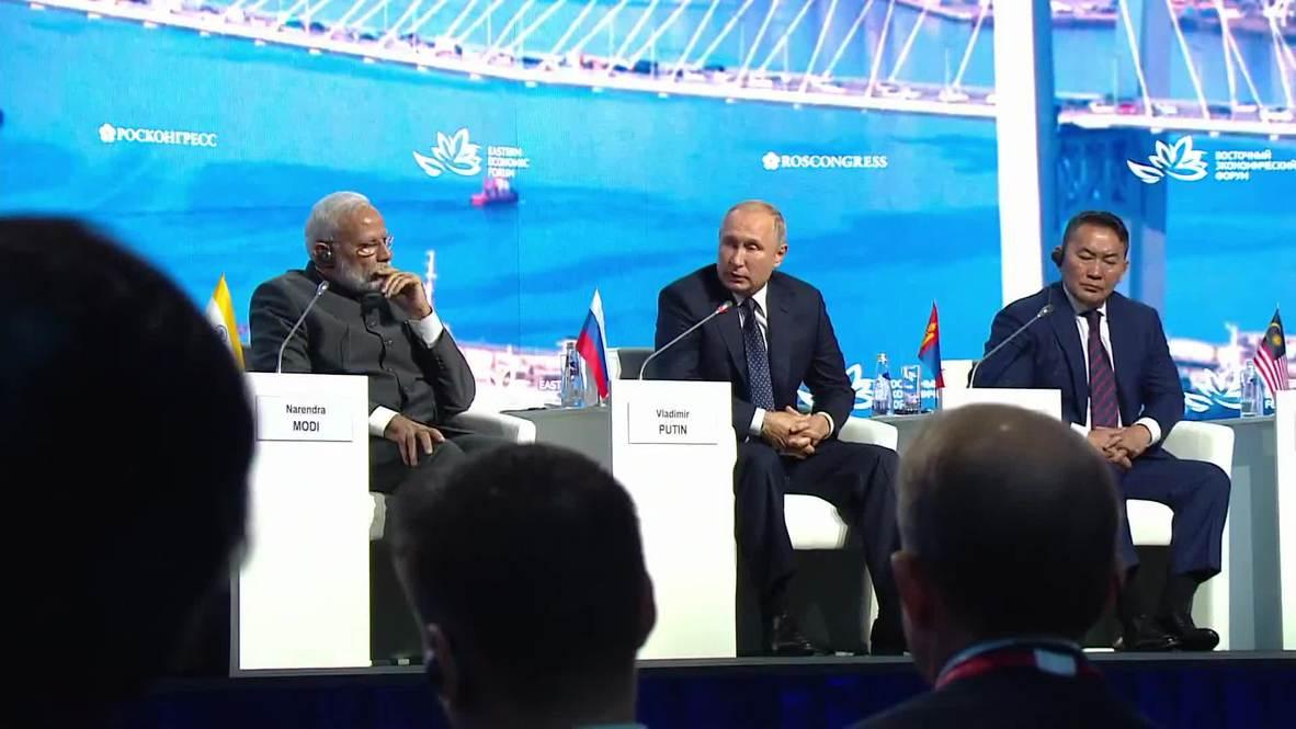 Russia: Abe, Putin discuss peace treaty at EEF