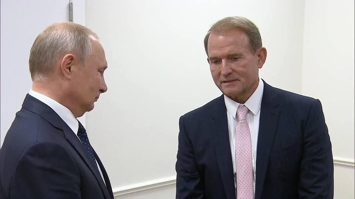 """Россия: """"Благородная, гуманитарная миссия и небезуспешно, надо сказать"""" - Путин на встрече с Медведчуком"""