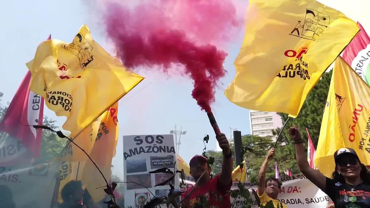 Brasil: Miles de personas protestan contra la exclusión social en el Día de la Independencia del país