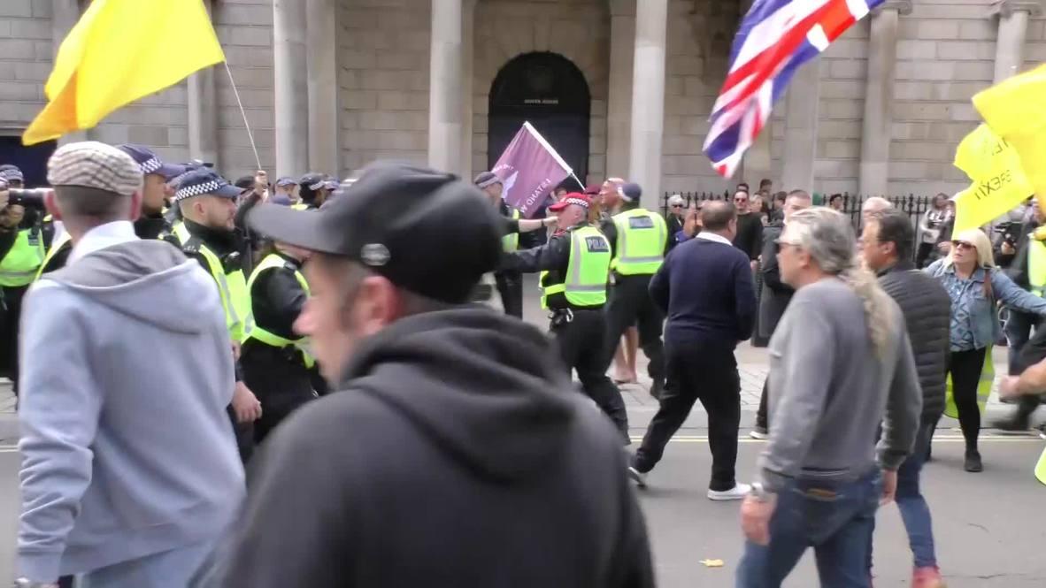 Reino Unido: Enfrentamientos mientras marcha anti Brexit se encuentra con contramanifestantes en Londres