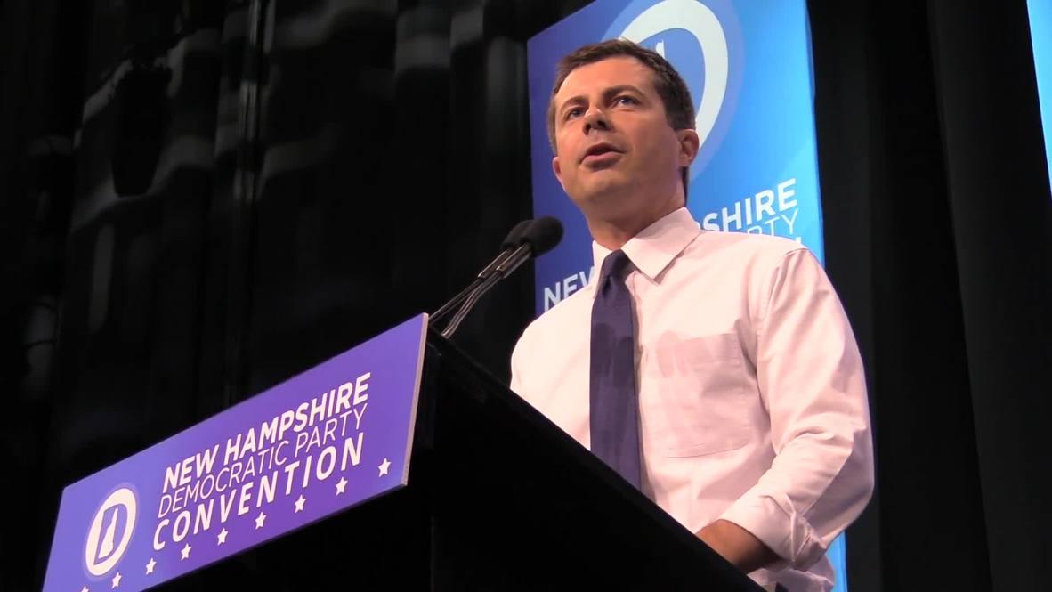 USA: Democratic candidates speak at New Hampshire convention