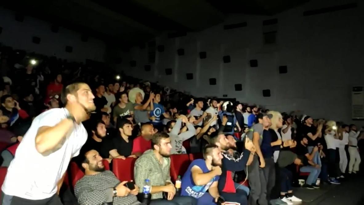 Russia: Fans gather in Khabib's hometown to watch him battle Poirier at UFC 242