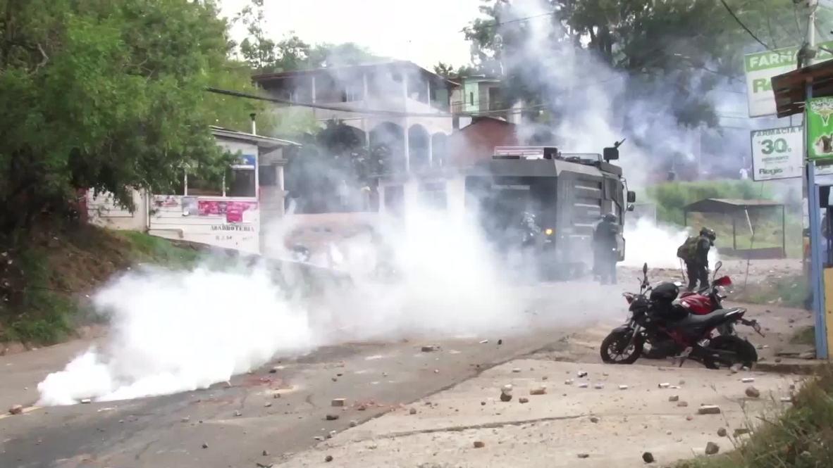 Honduras: Disturbios durante una protesta contra un proyecto habitacional en una reserva forestal