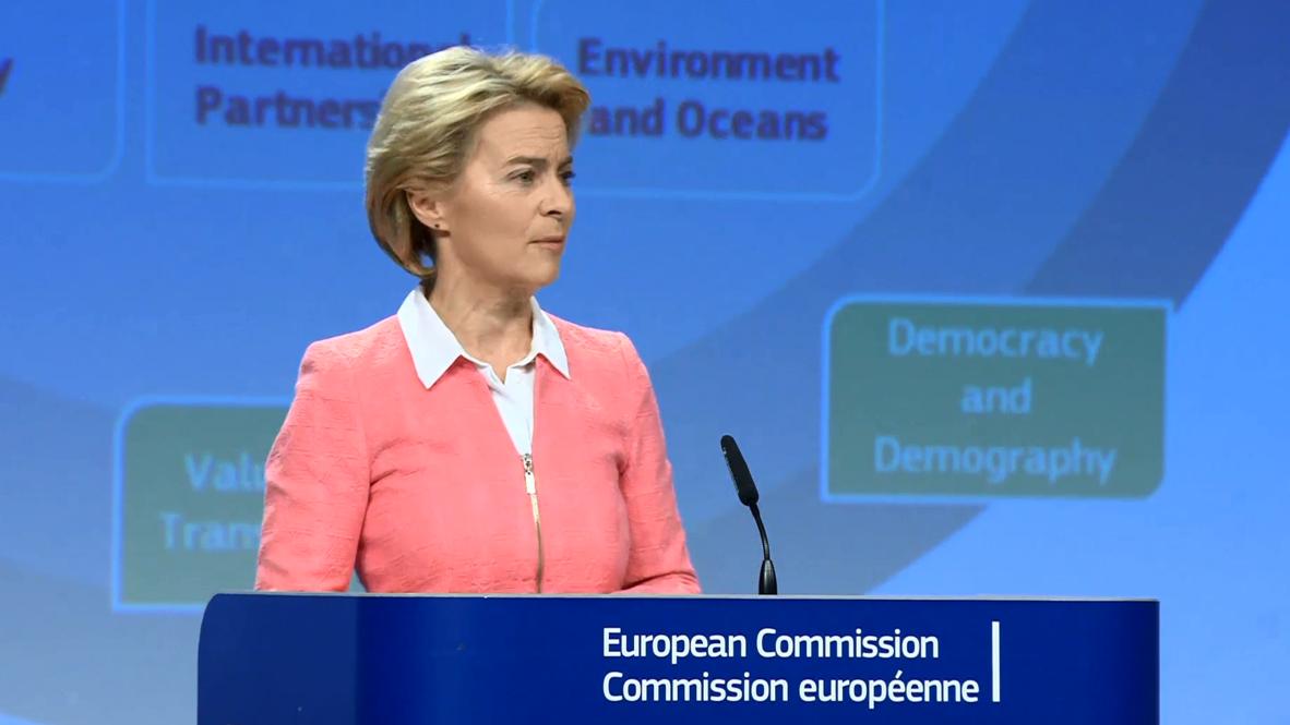 Belgium: Von der Leyen presents new EU Commission