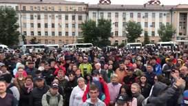 Россия: В Улан-Удэ прошла стихийная акция недовольных результатами выборов мэра