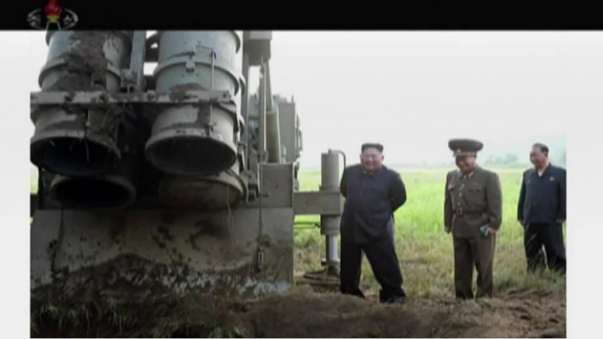 North Korea: Kim oversees multiple rocket launcher test – state media *STILLS*