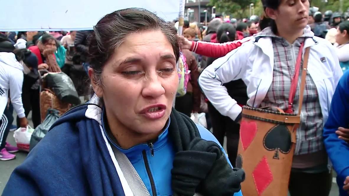 Argentina: Violentos choques en protesta antigubernamental en Buenos Aires
