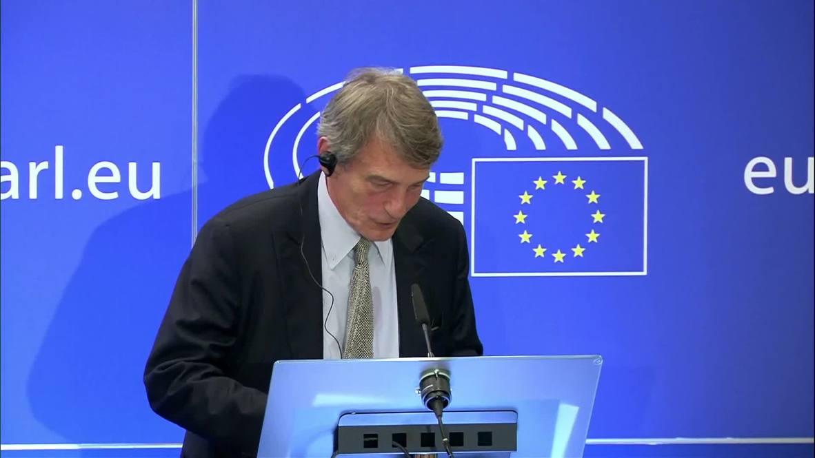 Belgium: No sign of UK initiative to reopen Brexit talks - head of EU Parliament