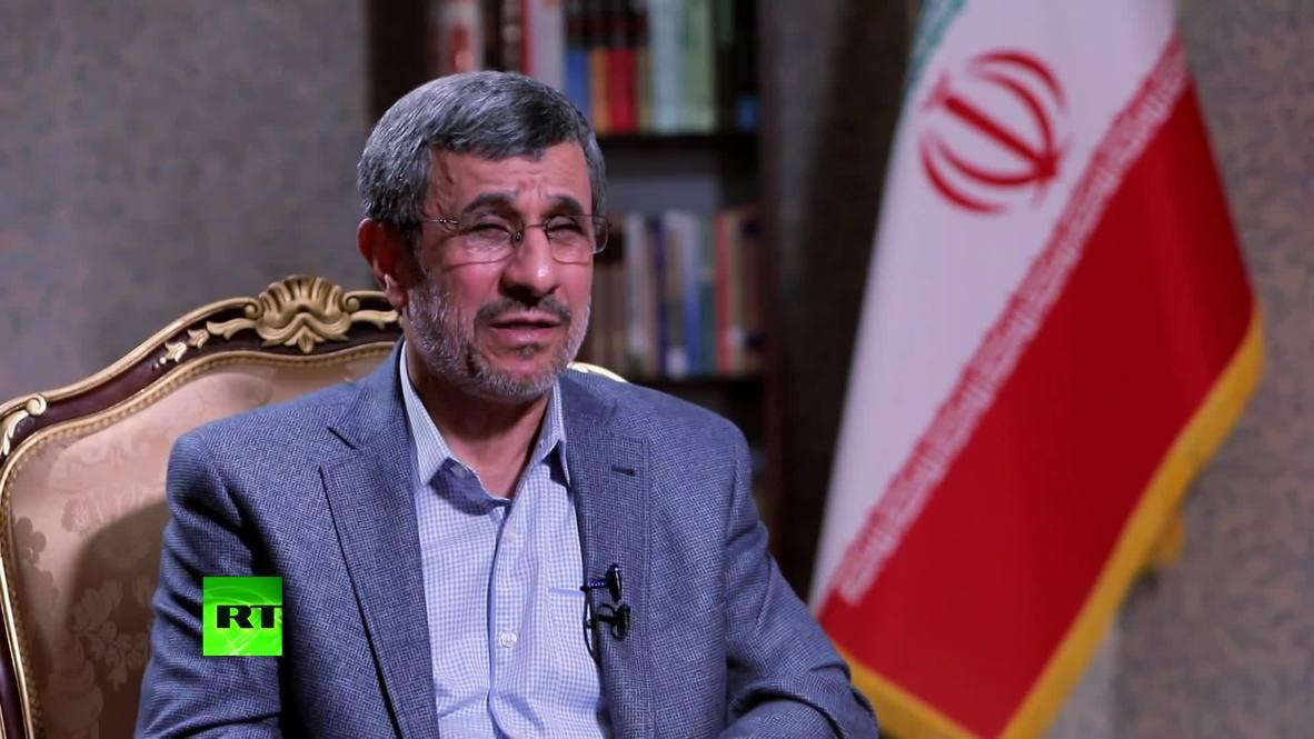 """""""Sanciones a Irán buscan mantener la hegemonía de EE.UU."""" - Ahmadinejad *CONTENIDO DE SOCIOS*"""