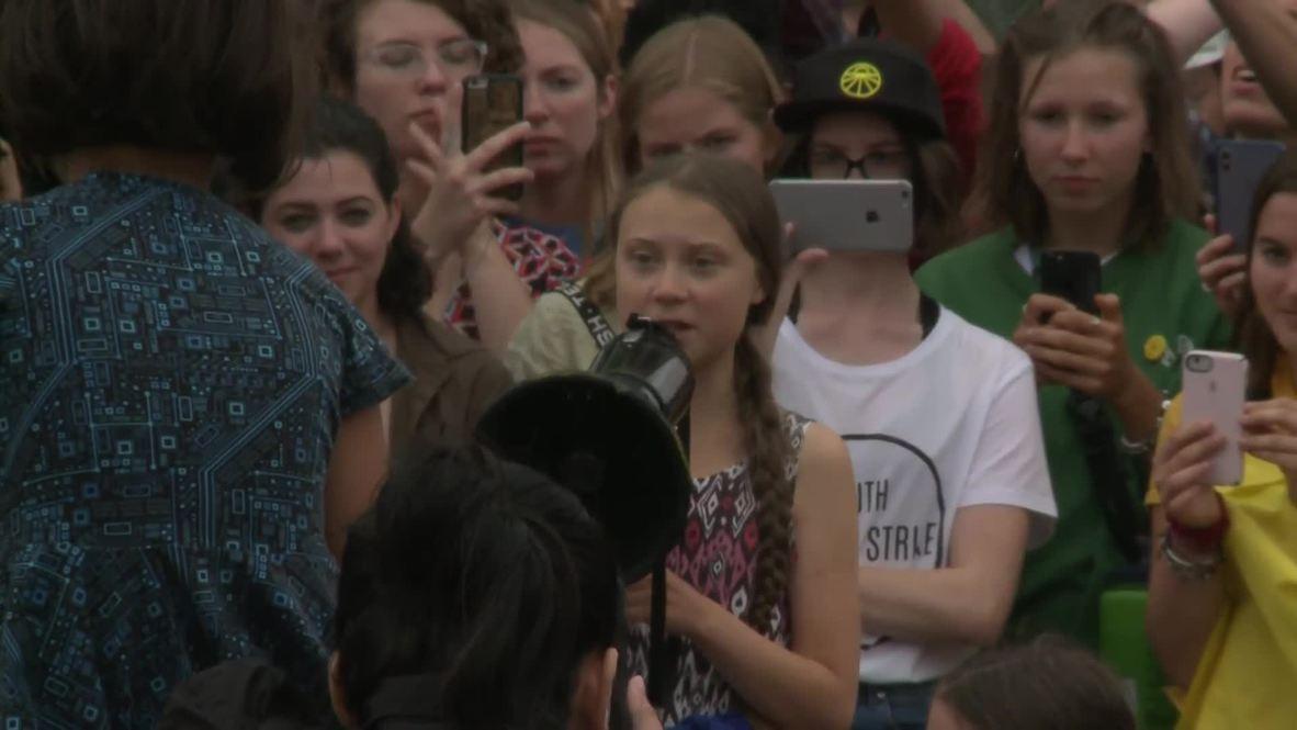 EE.UU.: Greta Thunberg se une a manifestación ambientalista frente a la Casa Blanca