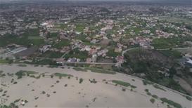 España: Imágenes aéreas muestran desborde del río Segura en Murcia
