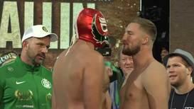 EE.UU.: Otto Wallin y Tyson Fury se enfrentan durante ceremonia de pesaje