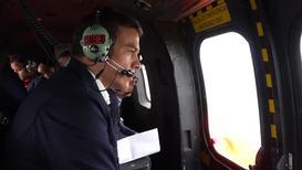 España: El presidente Sánchez sobrevuela en las zonas afectadas por las lluvias torrenciales