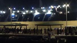 Italy: 82 migrants disembark rescue ship 'Ocean Viking' in Lampedusa