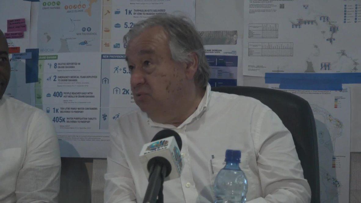 Bahamas: UN's Guterres surveys devastation in the wake of Hurricane Dorian