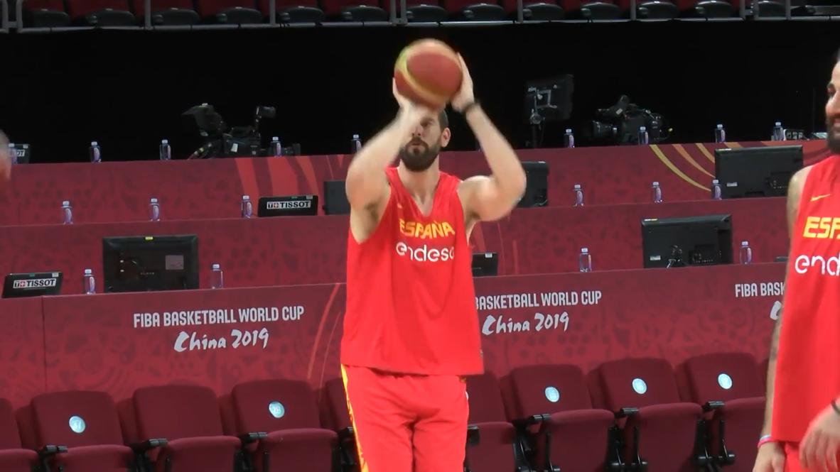 China: Spain and Argentina train ahead of FIBA World Cup final showdown