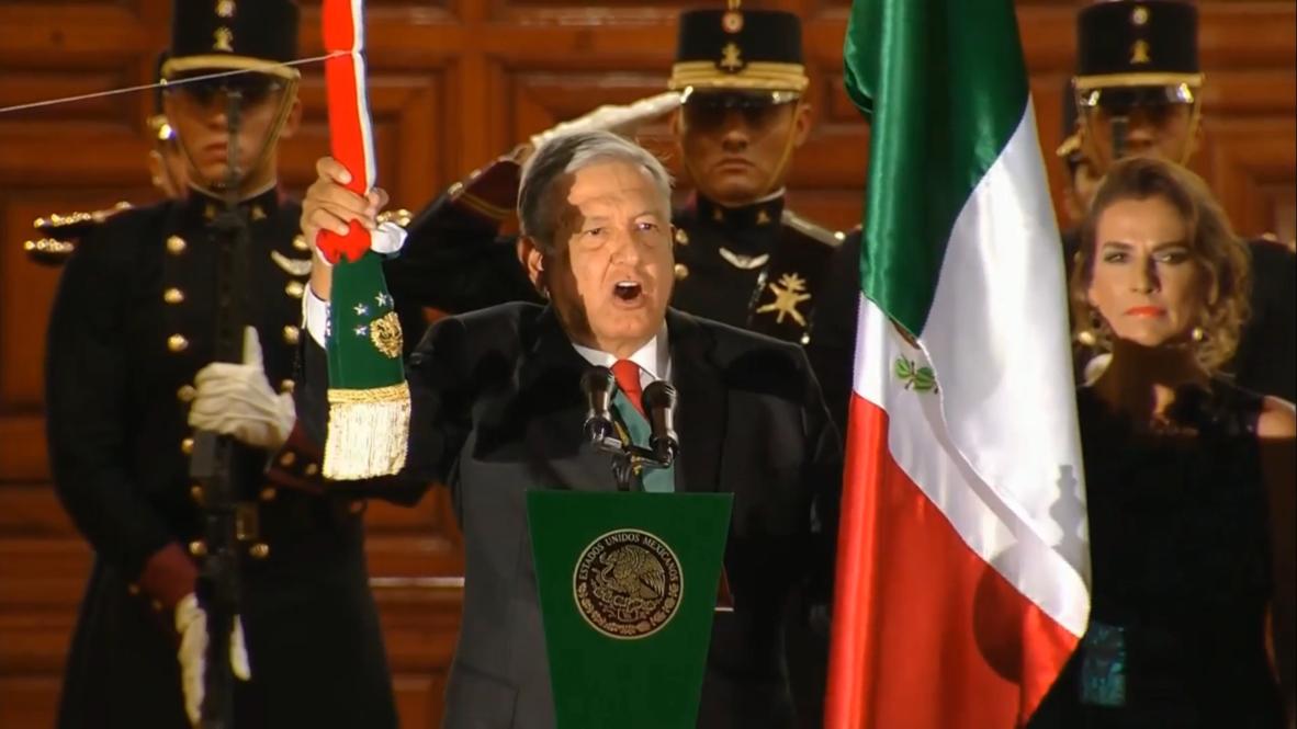 México: López Obrador participa en su primer Grito de la Independencia
