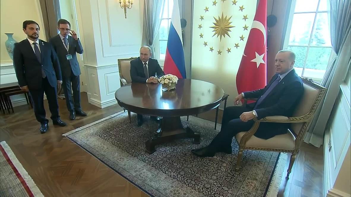 Turkey: Erdogan, Putin hold bilateral talks ahead of Syria summit