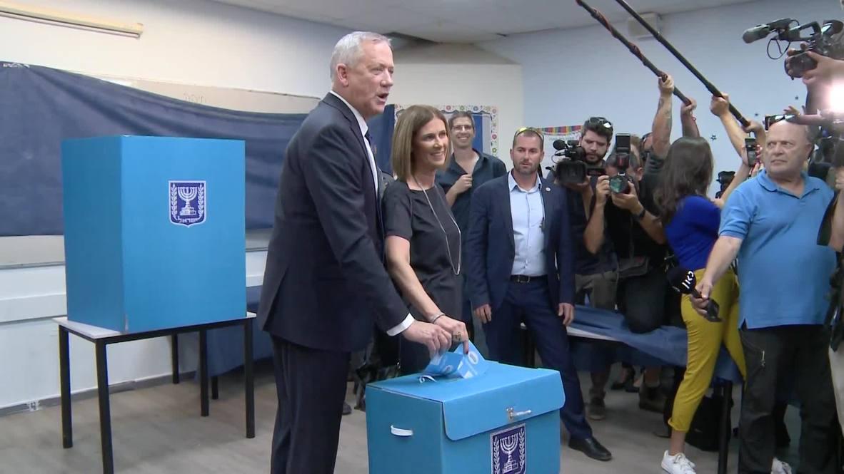 Israel: Netanyahu's main opponent Gantz casts his vote in general election