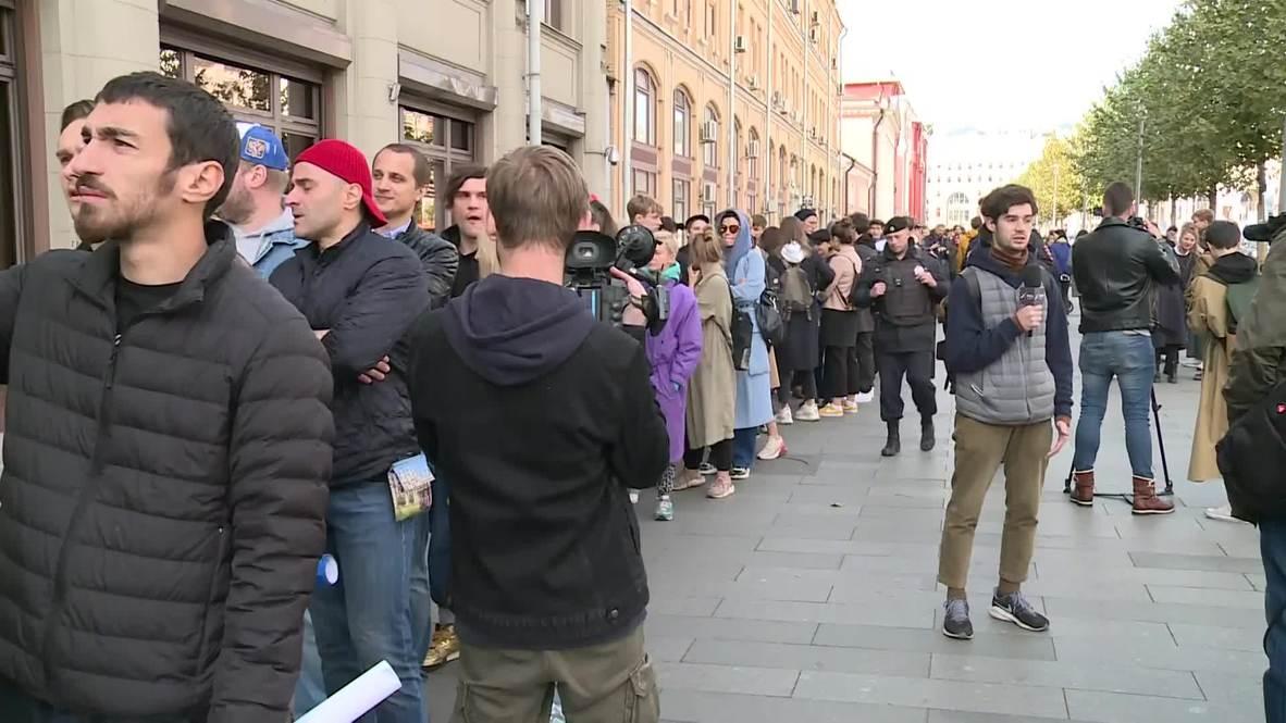 Россия: Сотни человек вышли на пикеты в поддержку Павла Устинова в Москве