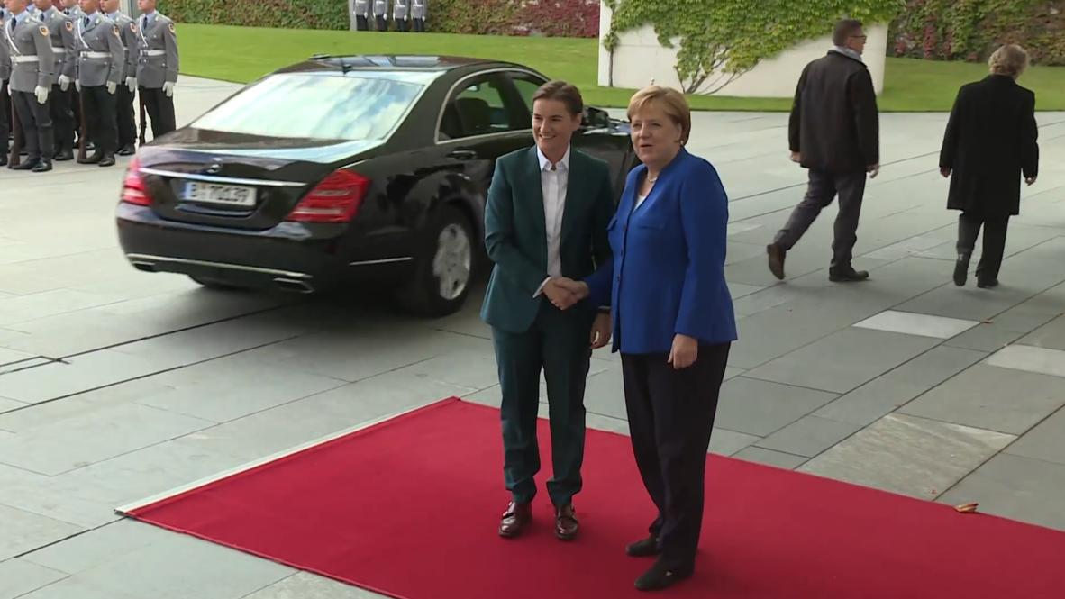 Germany: Merkel welcomes Serbian PM Brnabic before Berlin talks