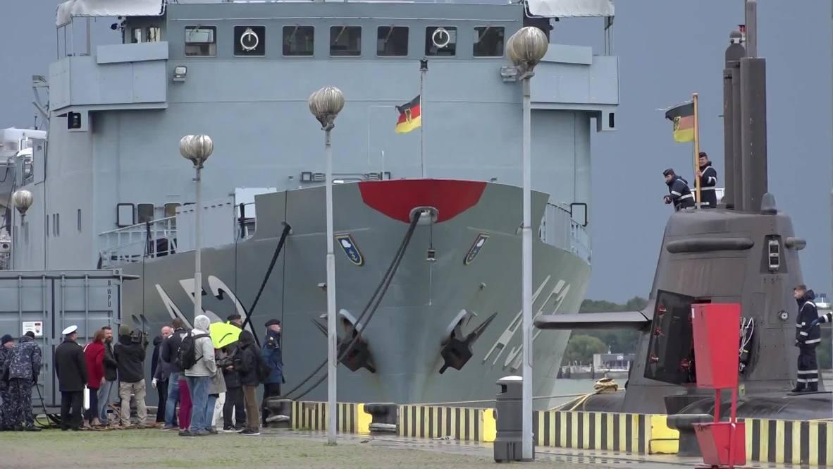 Литва: Немецкая подводная лодка зашла в Клайпедский порт впервые за 18 лет