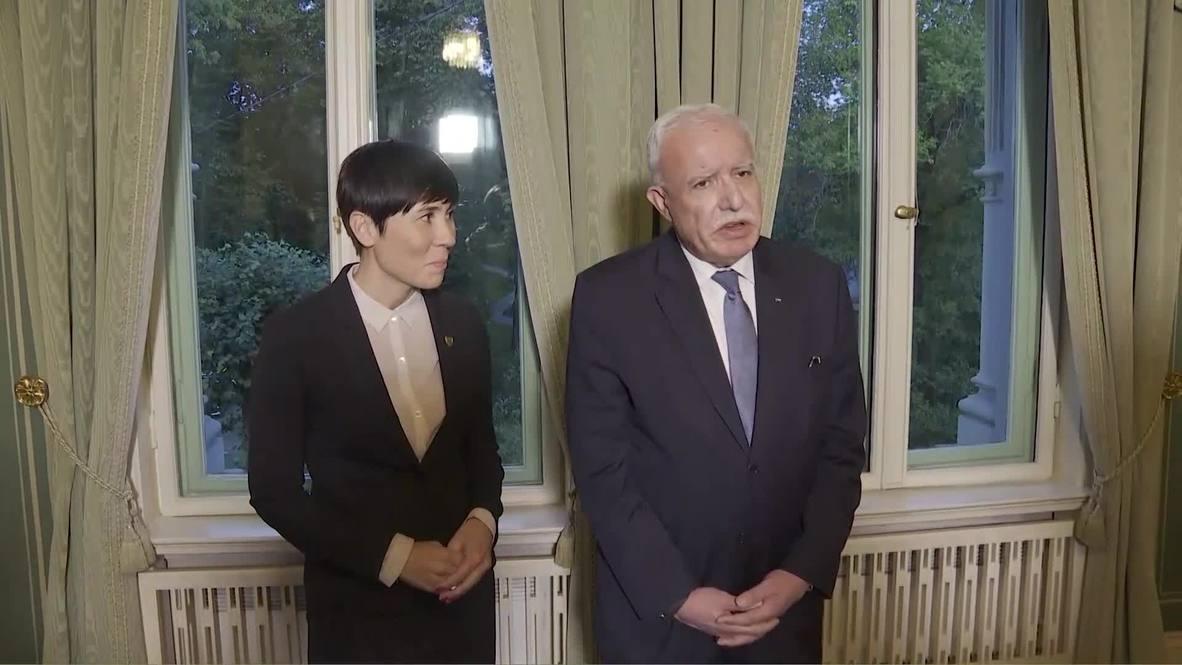 النرويج: وزير الخارجية الفلسطيني يعلن استعداده للتفاوض مع أي رئيس وزراء إسرائيلي جديد