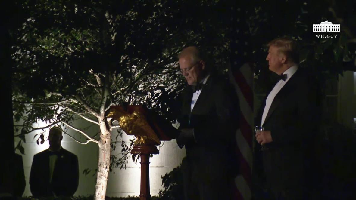 EE.UU.: Trump da la bienvenida al primer ministro australiano en una cena de Estado