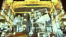 """Россия: Страницы истории и работа мозга. """"Круг света"""" на здании Политехнического музея"""