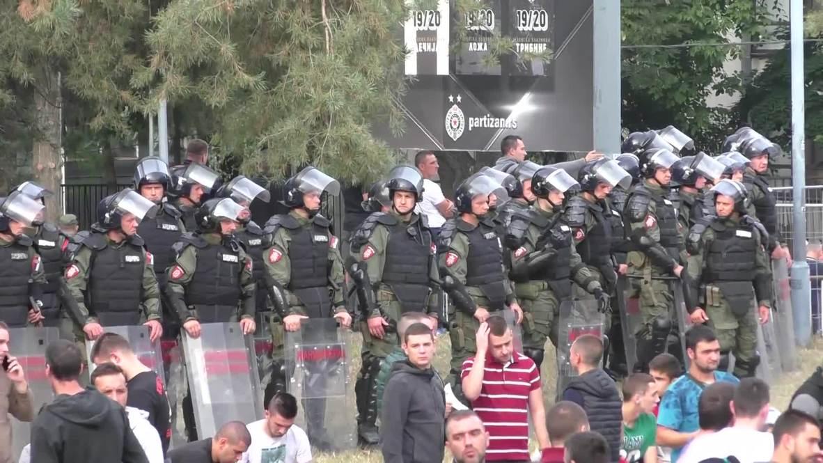 Serbia: Fuerte presencia policial en Belgrado para el derbi entre Partizan y Estrella Roja