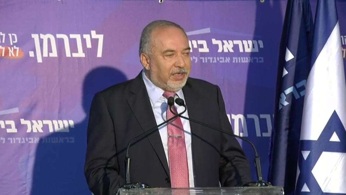 Israel: Lieberman rules out backing Gantz or Netanyahu for PM