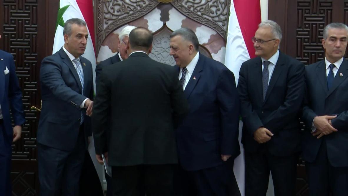 سوريا: رئيس البرلمان السوري يستقبل برلمانيين وسياسيين إيطاليين
