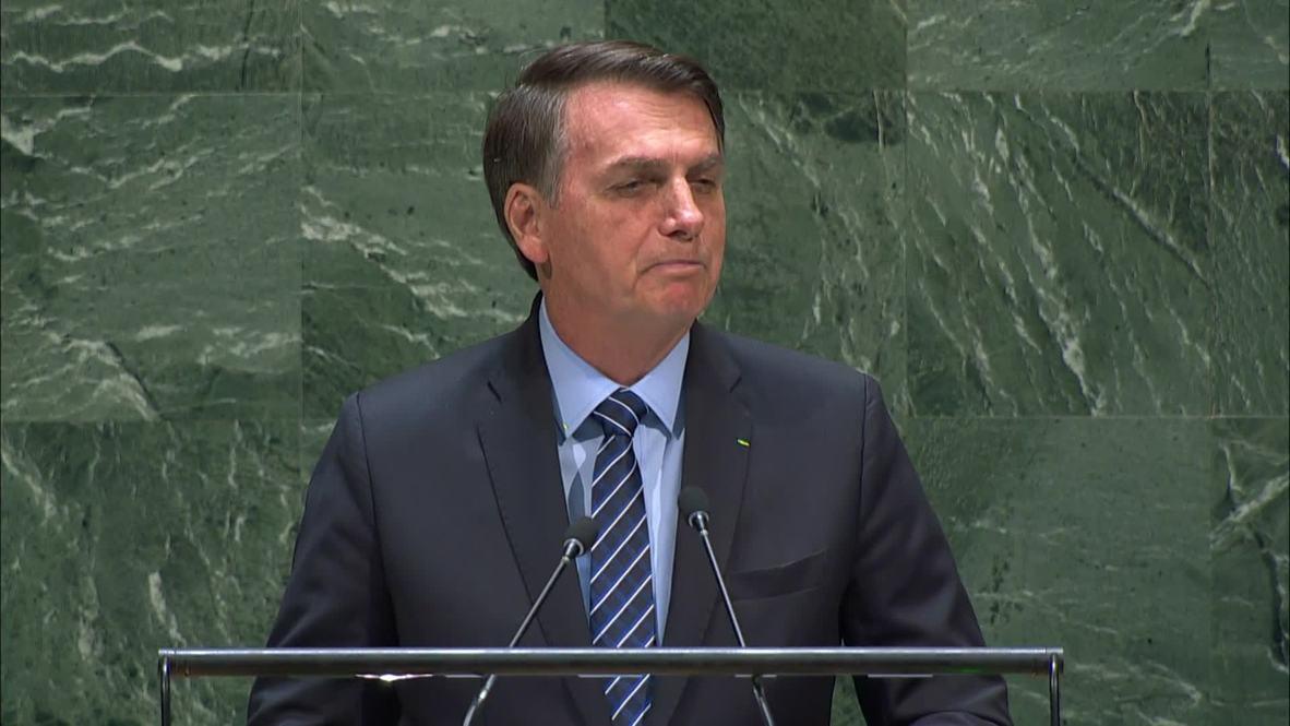"""ONU: La Amazonía no es """"patrimonio de la humanidad"""" dice Bolsonaro en Asamblea General de Naciones Unidas"""