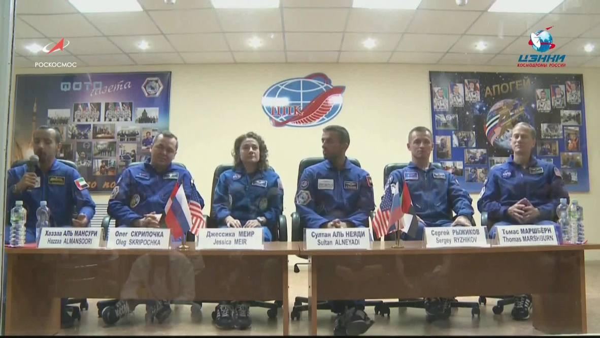 """Казахстан: """"Я могу сказать """"Поехали!"""" – первый космонавт из ОАЭ готов к полёту на МКС"""