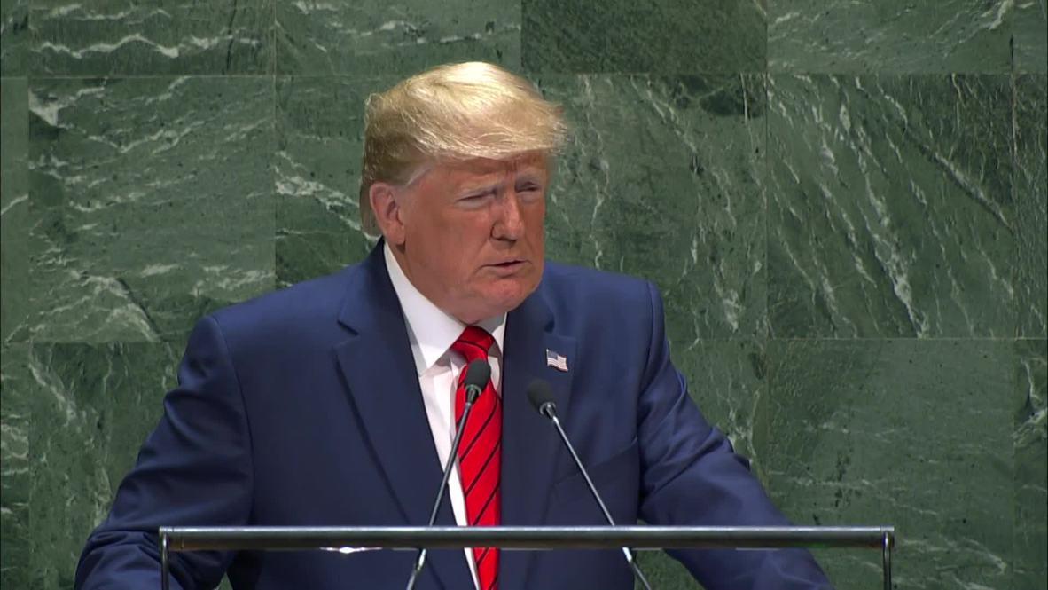 """ONU: Trump dice en Asamblea General que el futuro """"no pertenece a los globalistas"""" sino a los """"patriotas"""""""